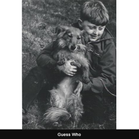 A young boy with a dog